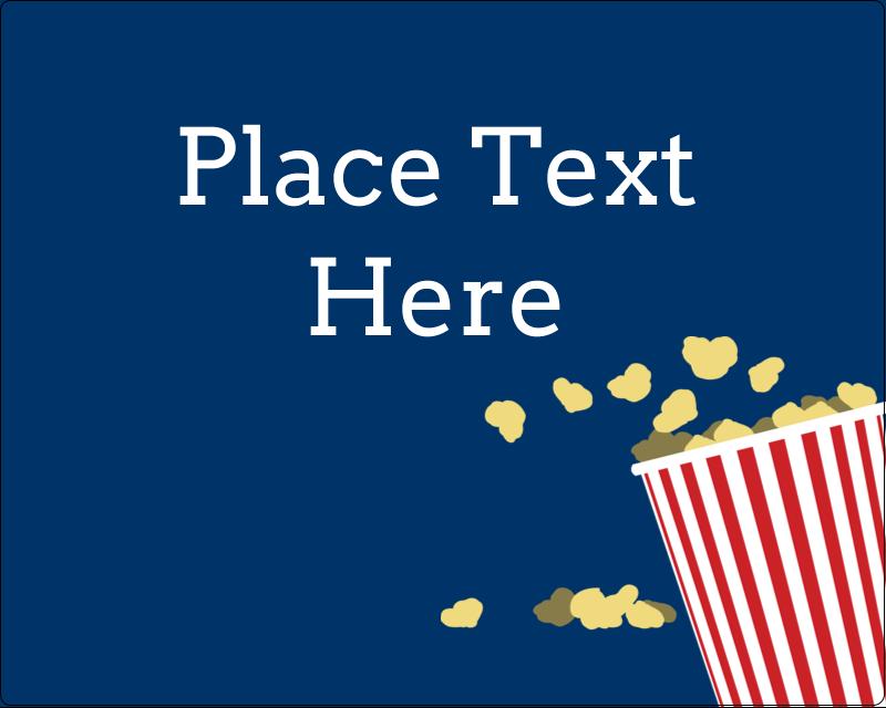"3"" x 3¾"" Rectangular Label - Movie Popcorn"