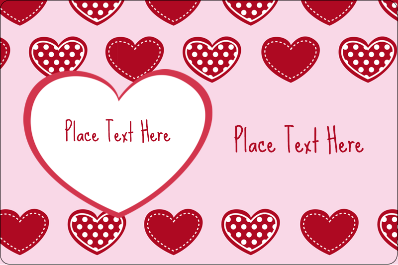 """2"""" x 3"""" Rectangular Label - Valentine Heart Pattern"""