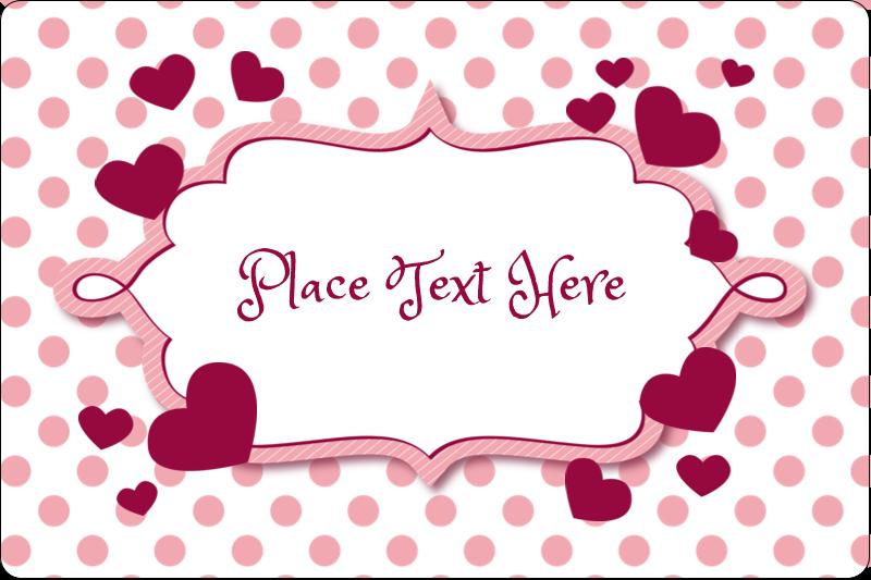 "2"" x 3"" Rectangular Label - Valentine Bubbles"
