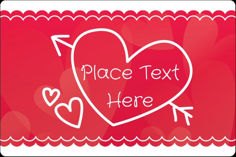 "2"" x 3"" Rectangular Label - Valentine Drawn"