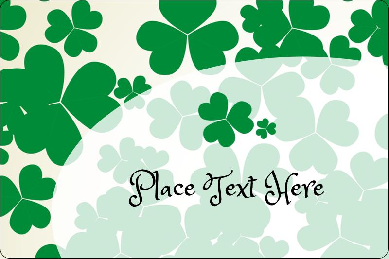"2"" x 3"" Rectangular Label - St. Patrick's Shamrock Background"