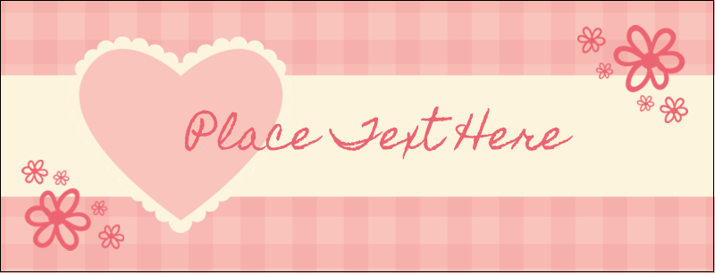 "1-7/16"" x 3¾"" Tent Card - Valentine Gingham"