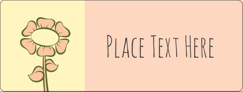 "½"" x 1¾"" Address Label - Flower Sketch"