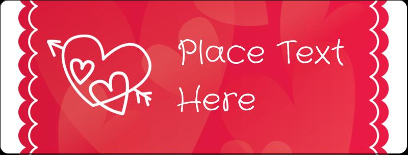 "½"" x 1¾"" Address Label - Valentine Drawn"