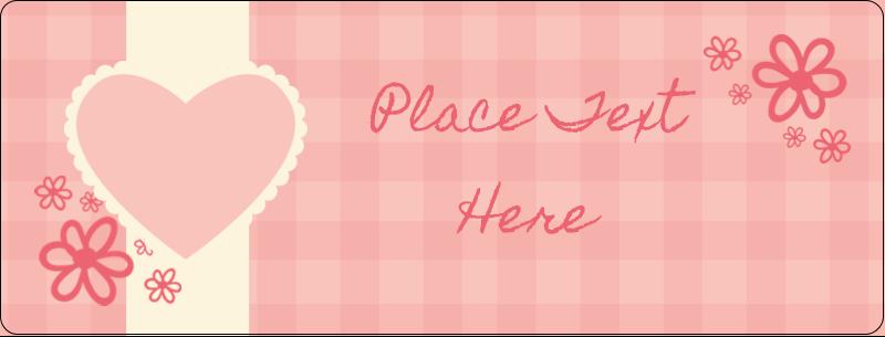"½"" x 1¾"" Address Label - Valentine Gingham"