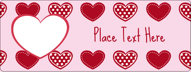 "½"" x 1¾"" Address Label - Valentine Heart Pattern"