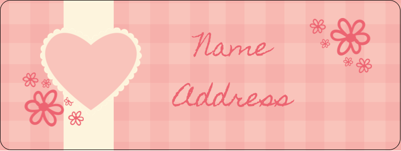 "⅔"" x 1¾"" Address Label - Valentine Gingham"