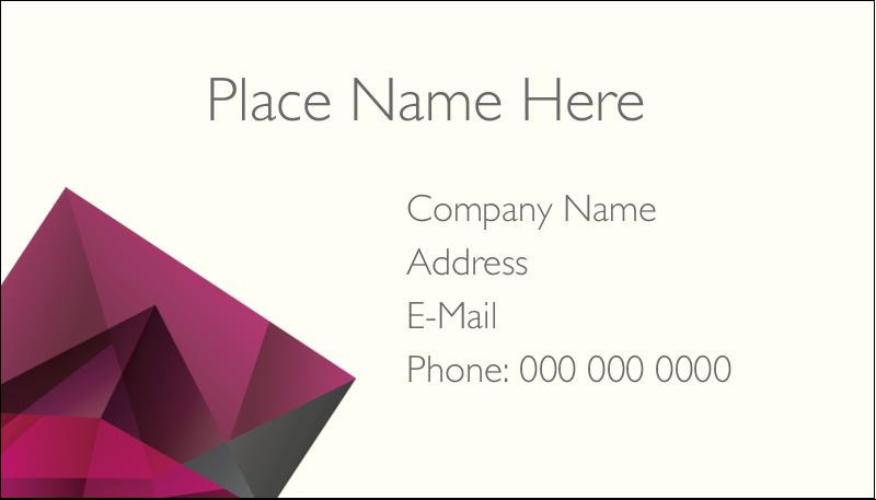 "2"" x 3½"" Business Card - Ruby Gem"