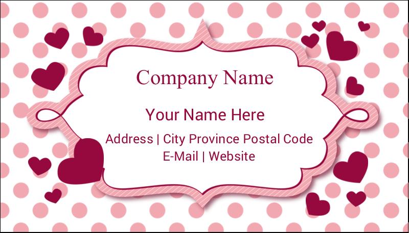 "2"" x 3½"" Business Card - Valentine Bubbles"