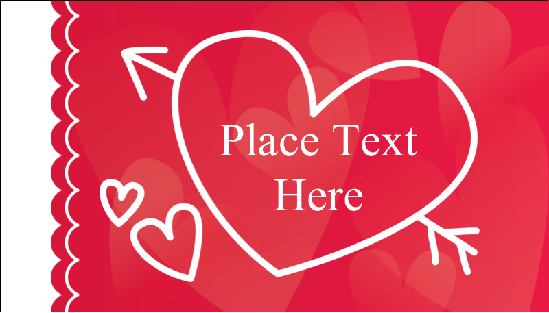 "2"" x 3½"" Business Card - Valentine Drawn"