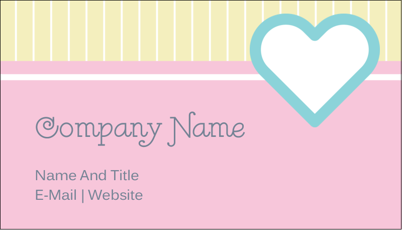 "2"" x 3½"" Business Card - Blue Heart"