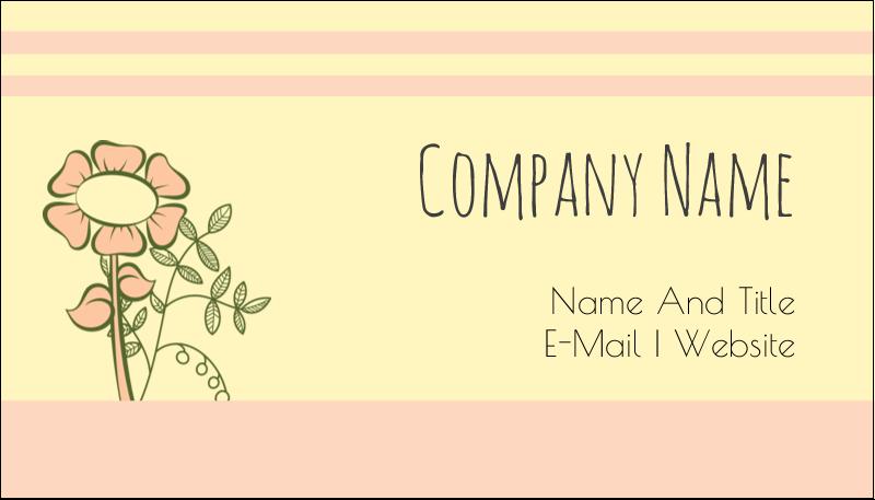 "2"" x 3½"" Business Card - Flower Sketch"