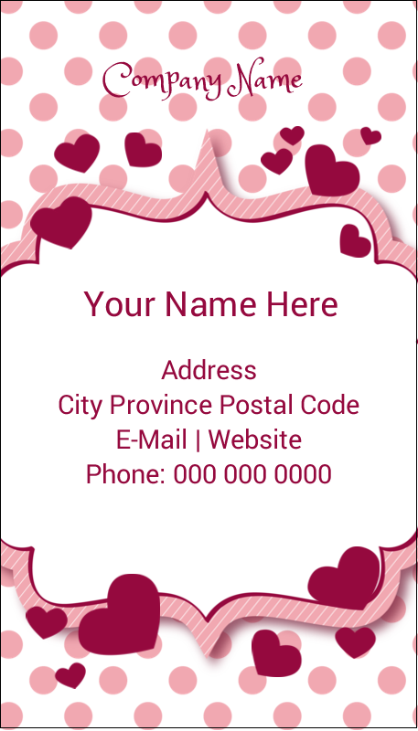 "3½"" x 2"" Business Card - Valentine Bubbles"