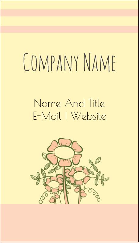 "3½"" x 2"" Business Card - Flower Sketch"