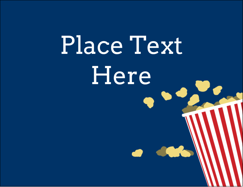 "4¼"" x 5½"" Postcard - Movie Popcorn"