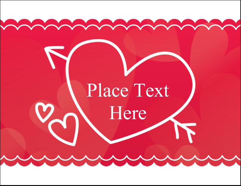 """4¼"""" x 5½"""" Postcard - Valentine Drawn"""