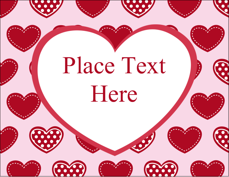 "4¼"" x 5½"" Postcard - Valentine Heart Pattern"