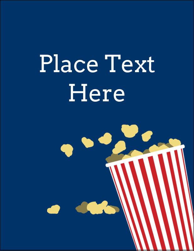 "4¼"" x 5½"" Postcard - Movie Popcorn"