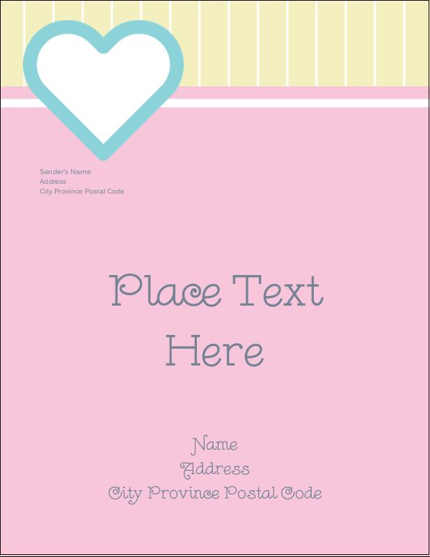 """4¼"""" x 5½"""" Postcard - Blue Heart"""
