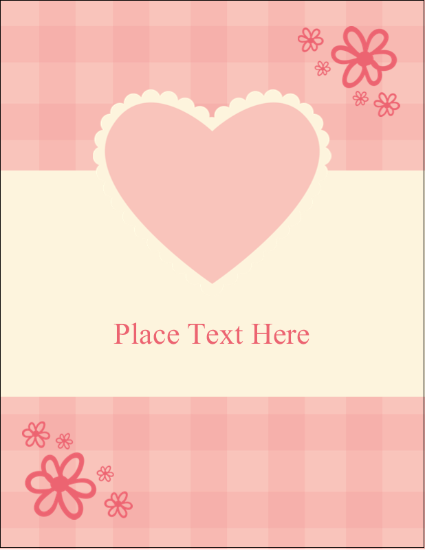 "4¼"" x 5½"" Postcard - Valentine Gingham"