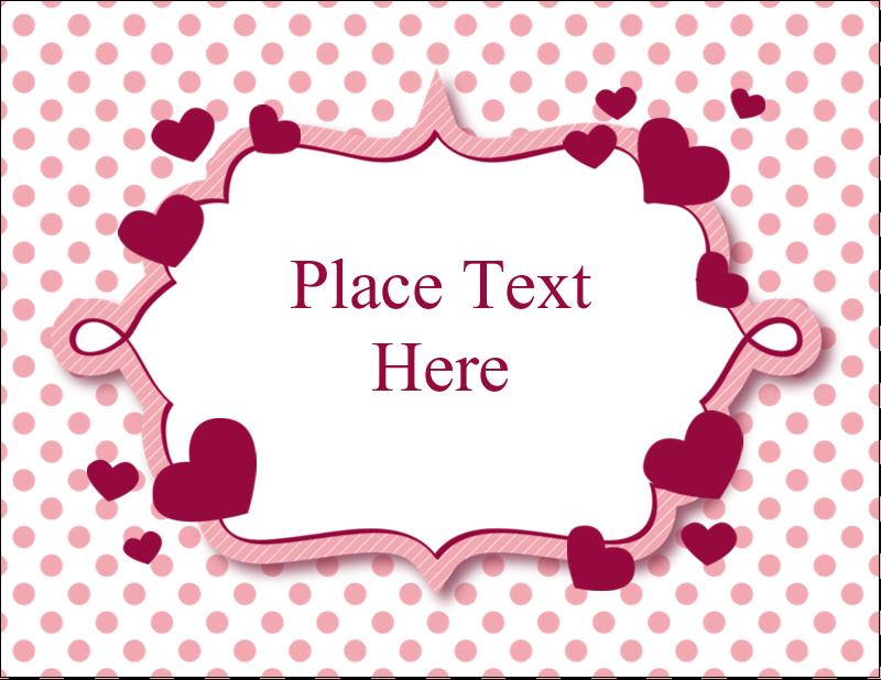 "5½"" x 4¼"" Postcard - Valentine Bubbles"