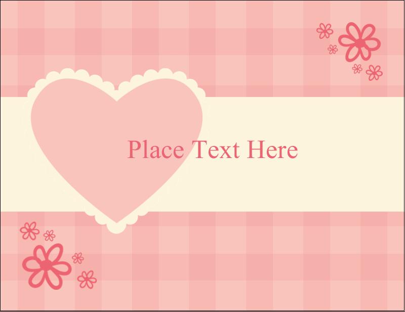 "5½"" x 4¼"" Postcard - Valentine Gingham"
