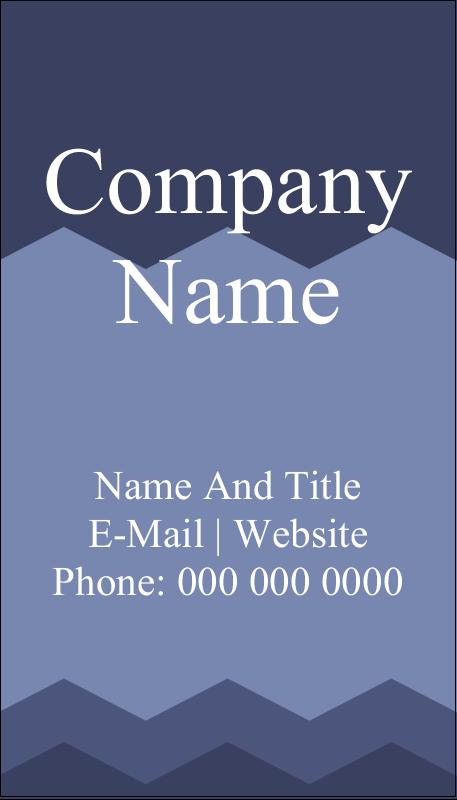 """3½"""" x 2"""" Business Card - Blue Chevron"""