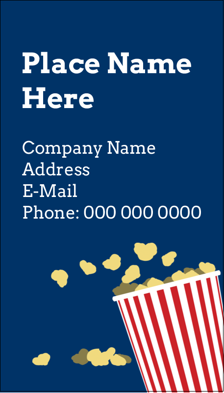 "3½"" x 2"" Business Card - Movie Popcorn"