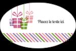 Quatre cadeaux Étiquettes ovales - gabarit prédéfini. <br/>Utilisez notre logiciel Avery Design & Print Online pour personnaliser facilement la conception.