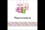 Quatre cadeaux Étiquettes carrées - gabarit prédéfini. <br/>Utilisez notre logiciel Avery Design & Print Online pour personnaliser facilement la conception.