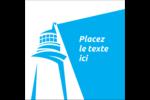 Phare bleu Étiquettes carrées - gabarit prédéfini. <br/>Utilisez notre logiciel Avery Design & Print Online pour personnaliser facilement la conception.