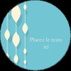 """2"""" Diameter Étiquettes rondes - Rideau de perles bleues"""