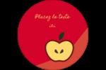 Pomme rouge Étiquettes rondes - gabarit prédéfini. <br/>Utilisez notre logiciel Avery Design & Print Online pour personnaliser facilement la conception.