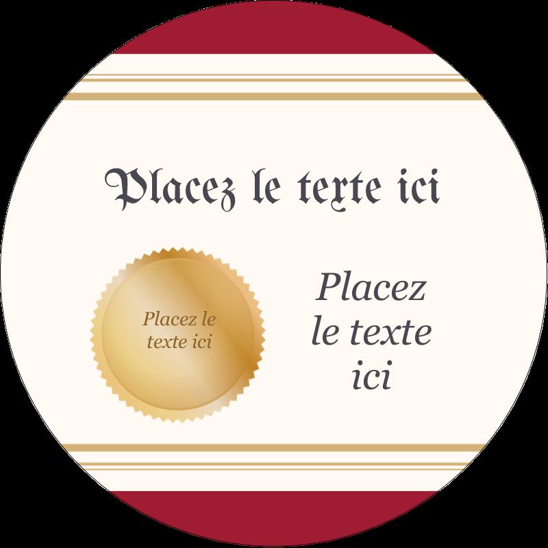 """2"""" Diameter Étiquettes rondes - Diplôme d'études"""