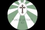 Croix pastel Étiquettes rondes - gabarit prédéfini. <br/>Utilisez notre logiciel Avery Design & Print Online pour personnaliser facilement la conception.