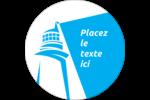 Phare bleu Étiquettes rondes - gabarit prédéfini. <br/>Utilisez notre logiciel Avery Design & Print Online pour personnaliser facilement la conception.