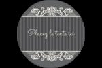 Papier peint gothique Étiquettes rondes - gabarit prédéfini. <br/>Utilisez notre logiciel Avery Design & Print Online pour personnaliser facilement la conception.