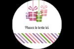 Quatre cadeaux Étiquettes rondes - gabarit prédéfini. <br/>Utilisez notre logiciel Avery Design & Print Online pour personnaliser facilement la conception.