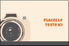 """2"""" x 3"""" Étiquettes rectangulaires - Appareil photo rétro"""