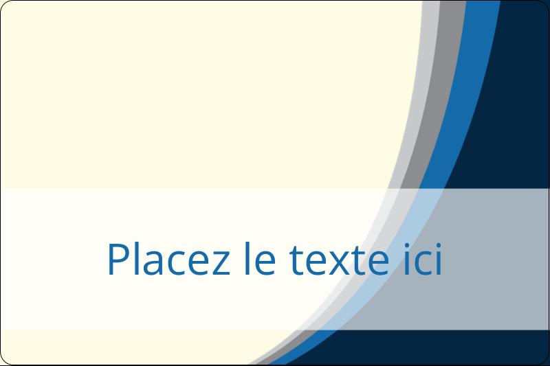 """2"""" x 3"""" Étiquettes rectangulaires - Vague bleue"""