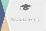 Diplômes et couleurs Étiquettes rectangulaires - gabarit prédéfini. <br/>Utilisez notre logiciel Avery Design & Print Online pour personnaliser facilement la conception.