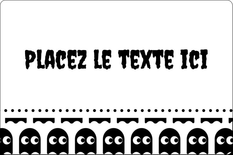 """2"""" x 3"""" Étiquettes rectangulaires - Fantômes Pac-Man d'Halloween"""