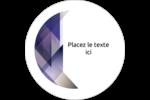 Prisme de verre Étiquettes rondes gaufrées - gabarit prédéfini. <br/>Utilisez notre logiciel Avery Design & Print Online pour personnaliser facilement la conception.