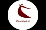 Danseuse rouge Étiquettes rondes gaufrées - gabarit prédéfini. <br/>Utilisez notre logiciel Avery Design & Print Online pour personnaliser facilement la conception.