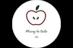 Pomme rouge Étiquettes rondes gaufrées - gabarit prédéfini. <br/>Utilisez notre logiciel Avery Design & Print Online pour personnaliser facilement la conception.