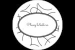 Gribouillis Étiquettes rondes gaufrées - gabarit prédéfini. <br/>Utilisez notre logiciel Avery Design & Print Online pour personnaliser facilement la conception.