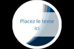 Vague bleue Étiquettes rondes gaufrées - gabarit prédéfini. <br/>Utilisez notre logiciel Avery Design & Print Online pour personnaliser facilement la conception.
