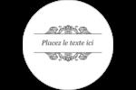 Papier peint gothique Étiquettes rondes gaufrées - gabarit prédéfini. <br/>Utilisez notre logiciel Avery Design & Print Online pour personnaliser facilement la conception.