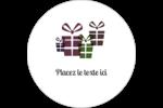 Quatre cadeaux Étiquettes rondes gaufrées - gabarit prédéfini. <br/>Utilisez notre logiciel Avery Design & Print Online pour personnaliser facilement la conception.