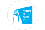 Phare bleu Étiquettes rondes gaufrées - gabarit prédéfini. <br/>Utilisez notre logiciel Avery Design & Print Online pour personnaliser facilement la conception.